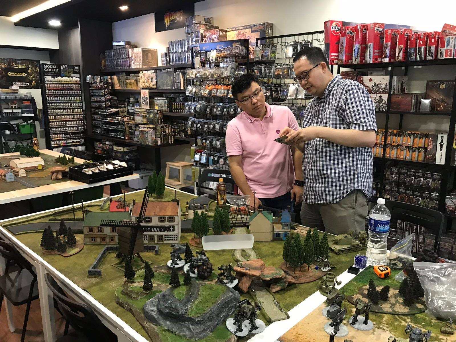 Board & card game shops in Singapore Battle Quarters at Xpidemix