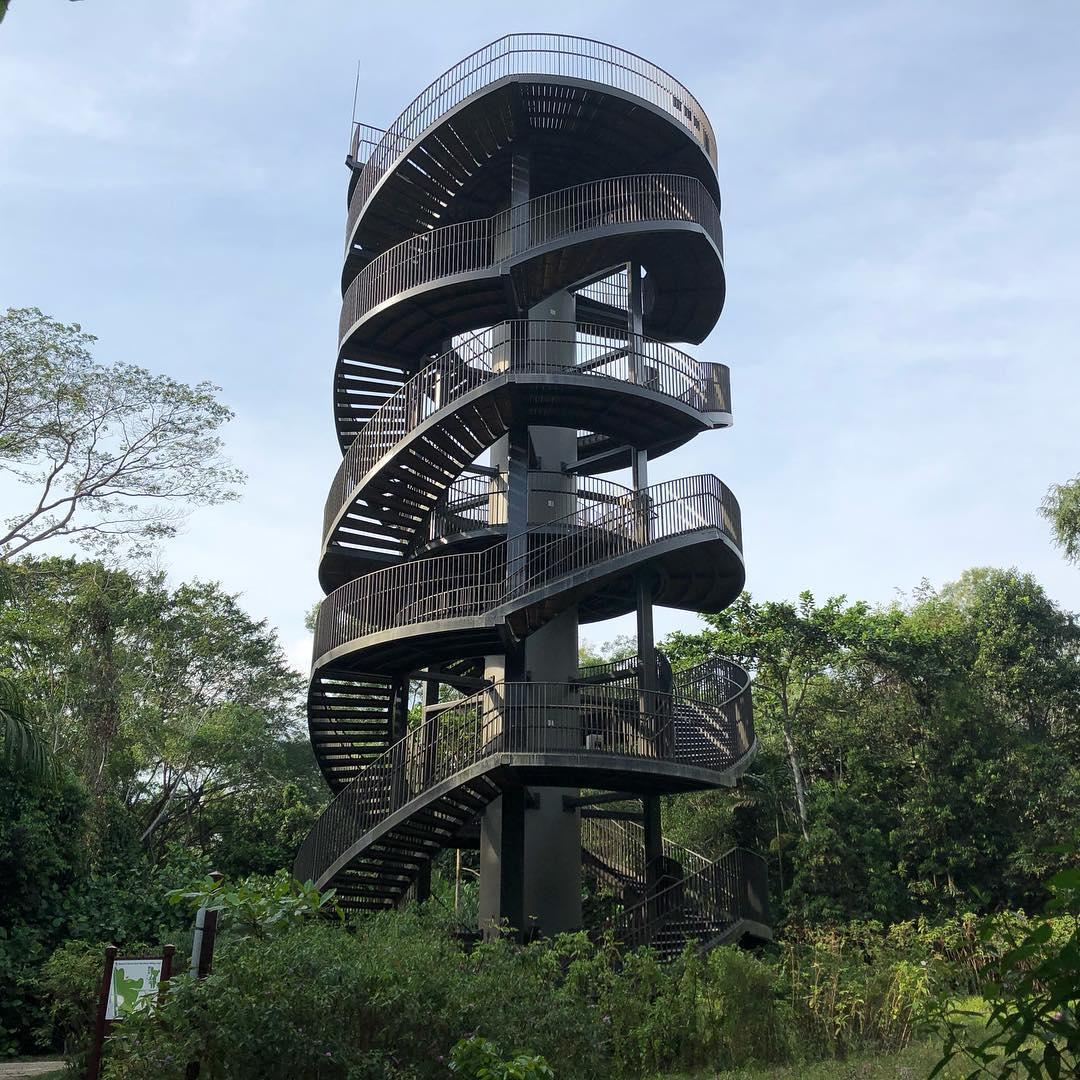steel observation tower