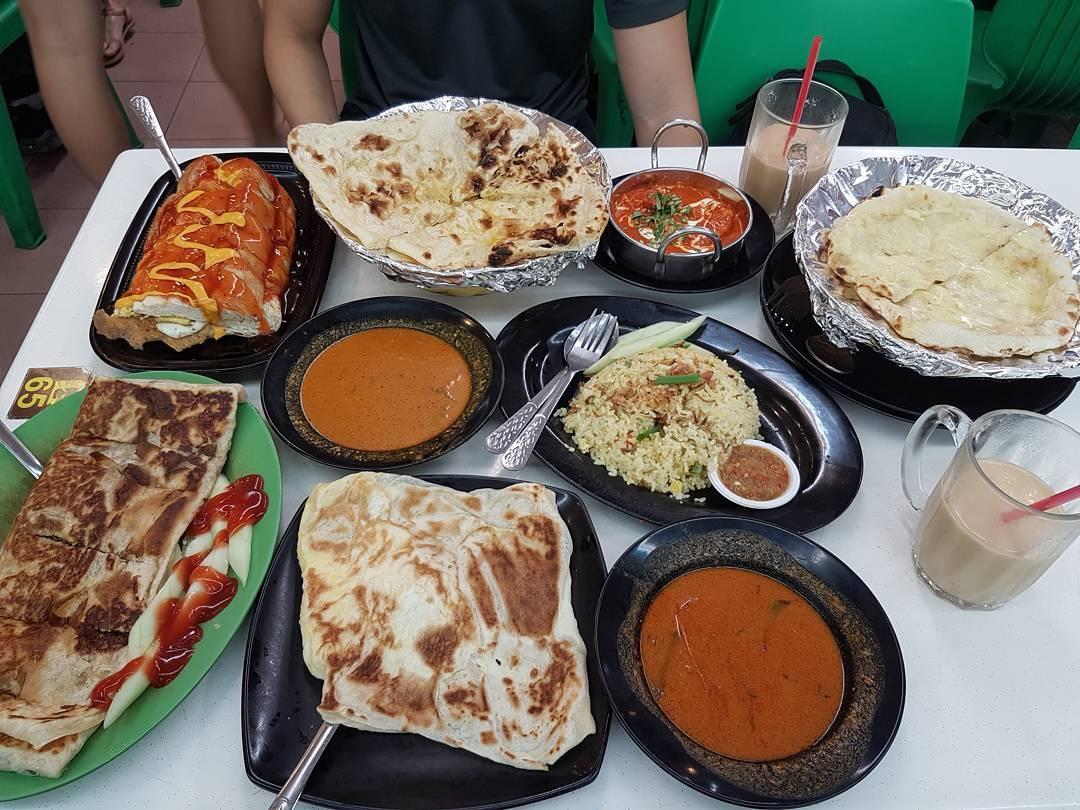 indian muslim food roti prata curry