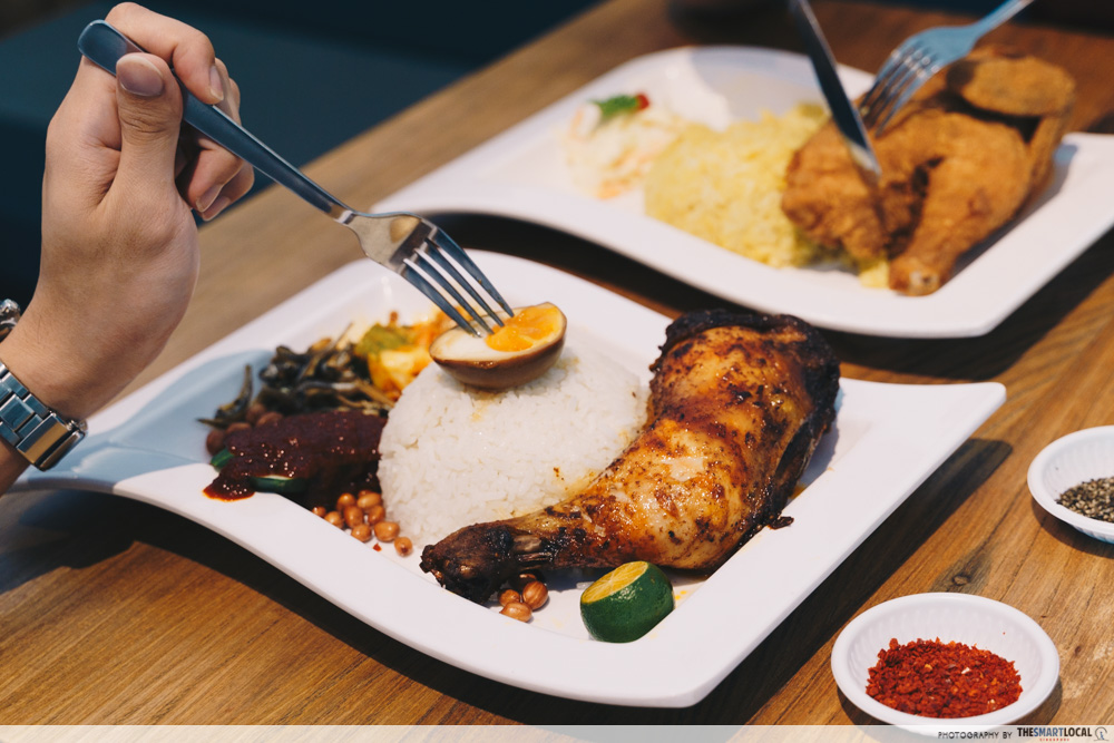 Cafes North Singapore Tenderfresh Makcik Tuckshop Sedap Lemak Fried Chicken