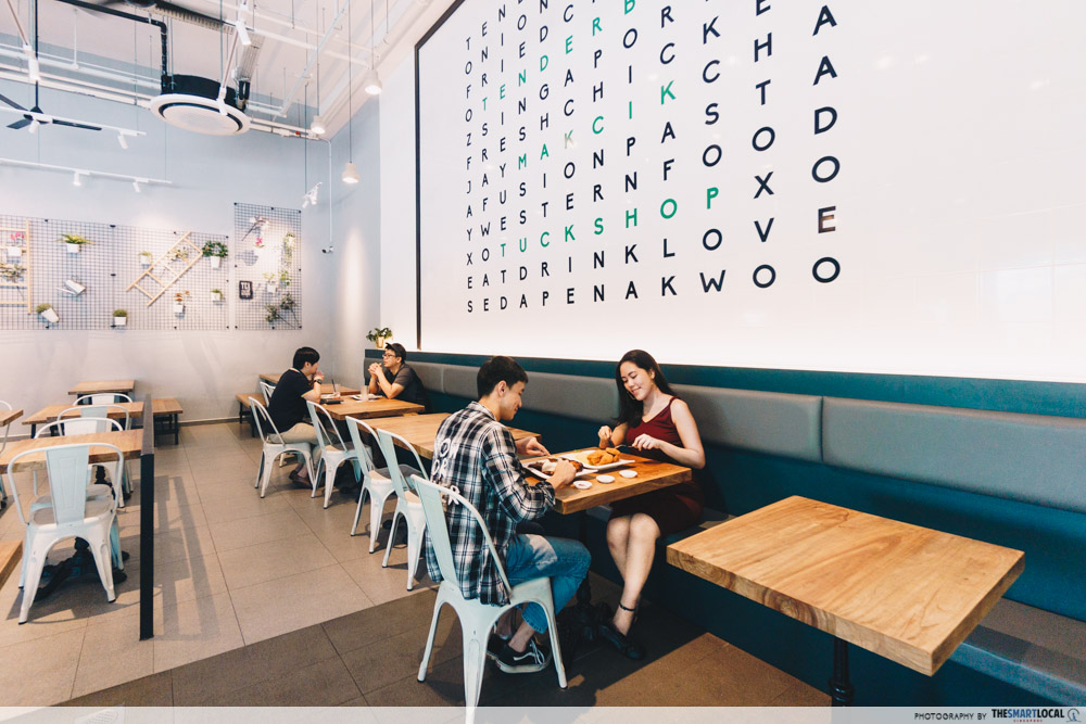 Cafes North Singapore Tenderfresh Makcik Tuckshop Alphabet Wall