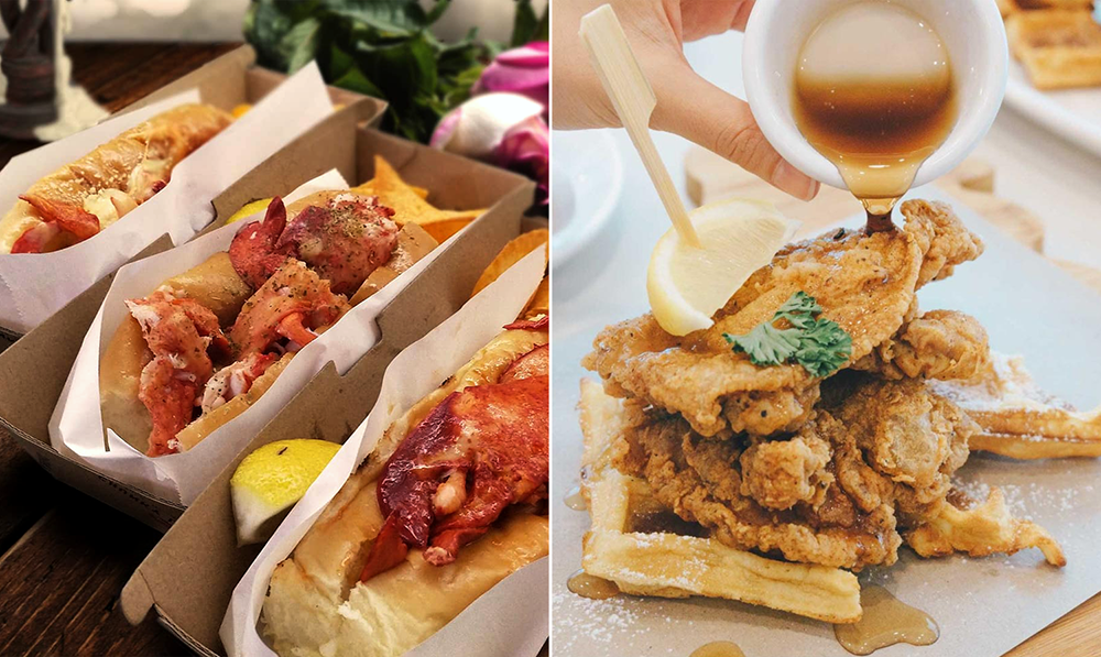 Chunky Lobsters Cluck Fried Chicken Waffles