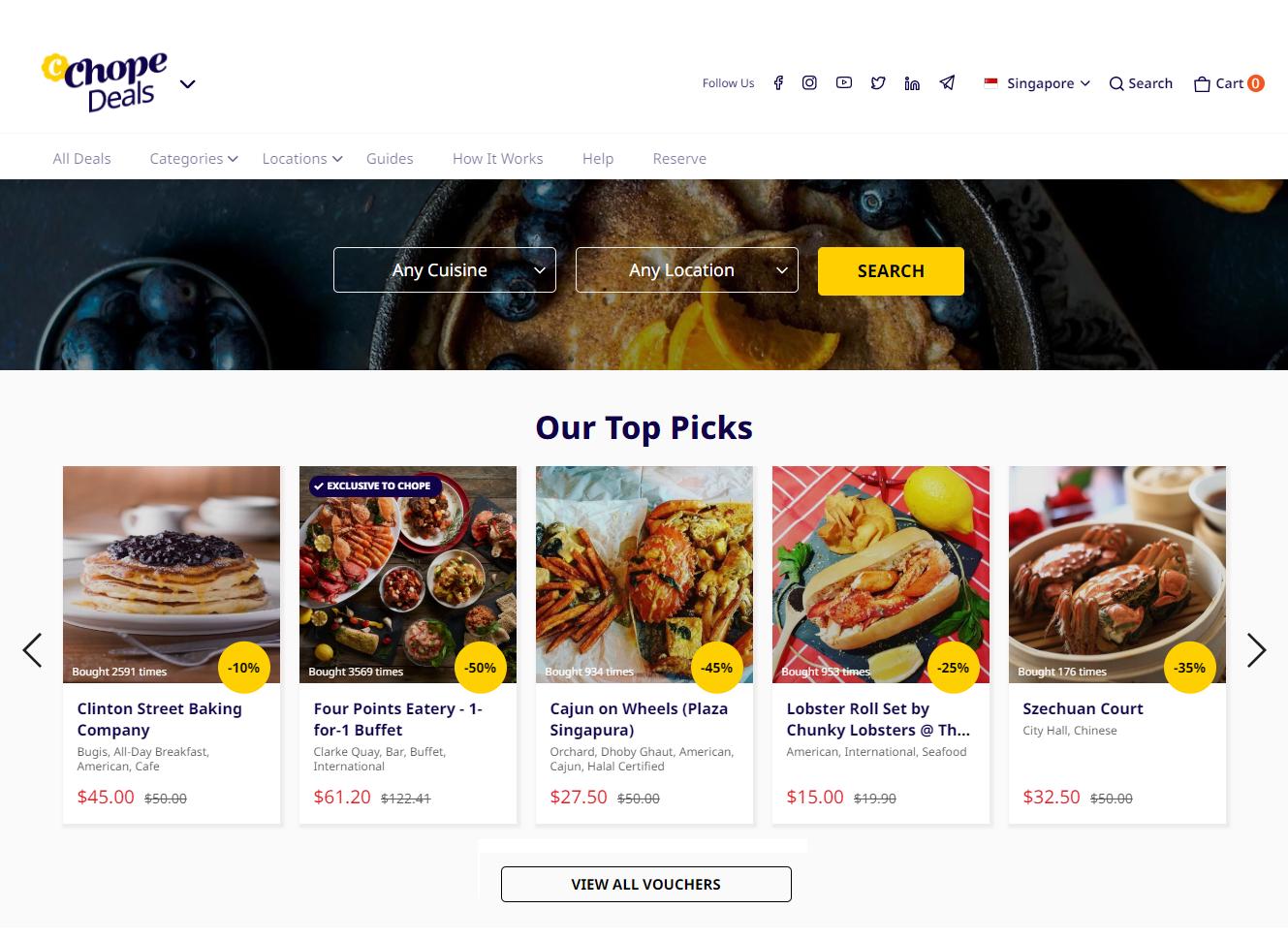 ChopeDeals Online Food Festival 2019 Singapore