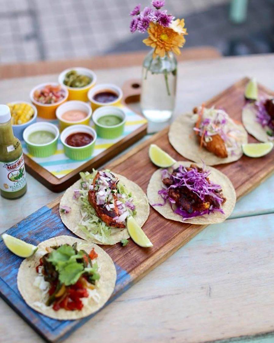 mexican taco platter