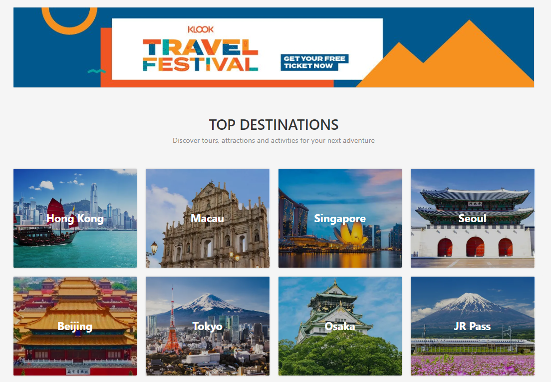 Klook Travel Festival 2019 Singapore Cities