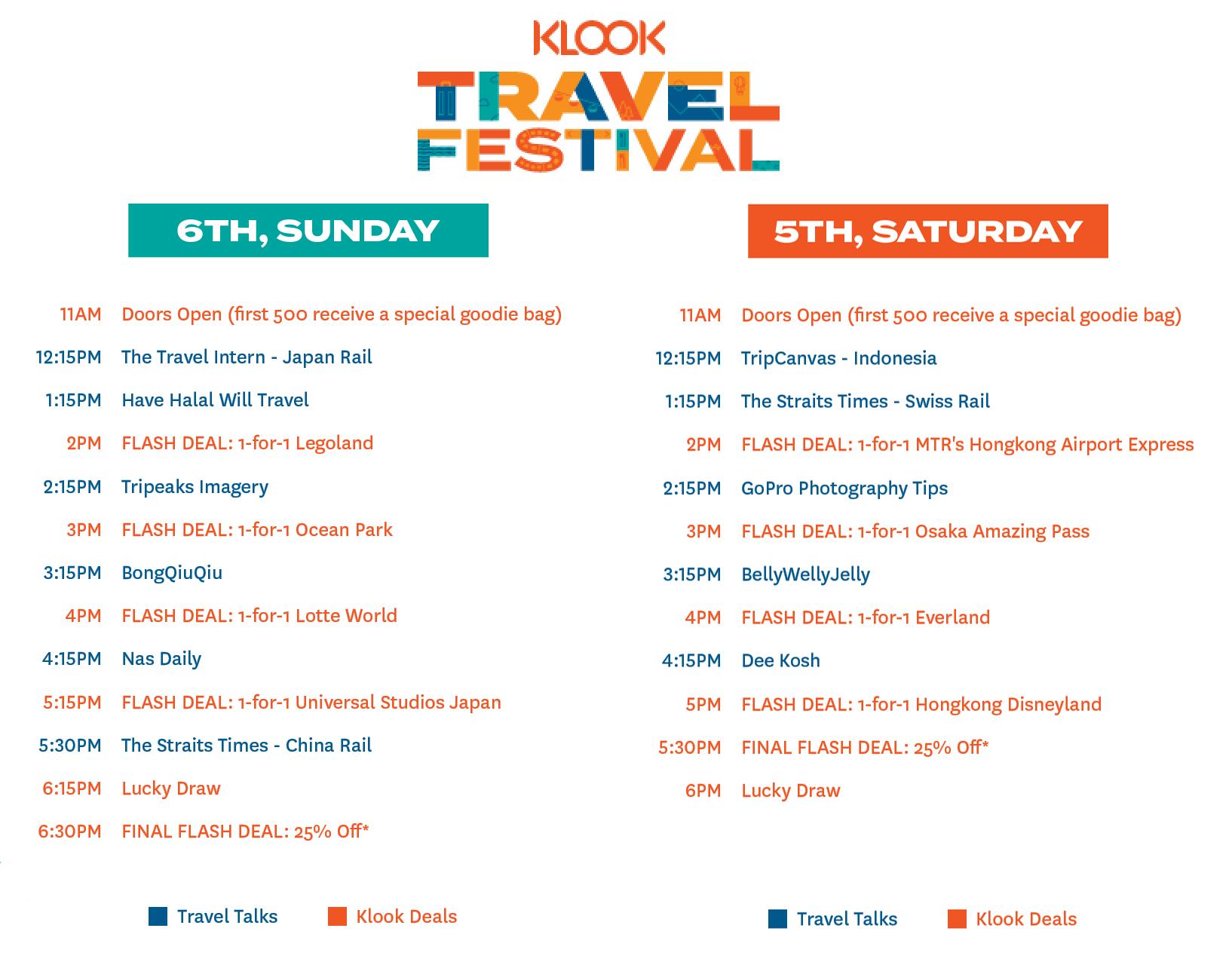 Klook Travel Festival 2019 Singapore Suntec