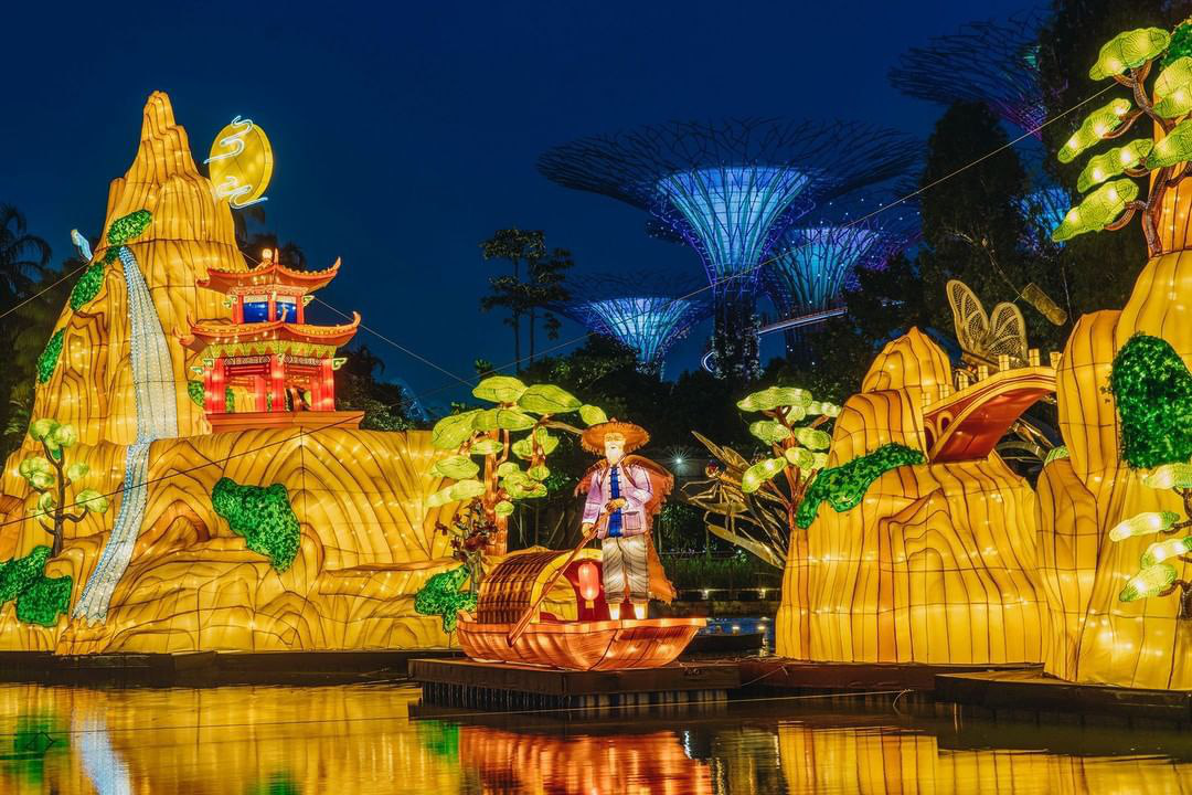 Mid-Autumn events Gardens by The Bay Floating Lanterns