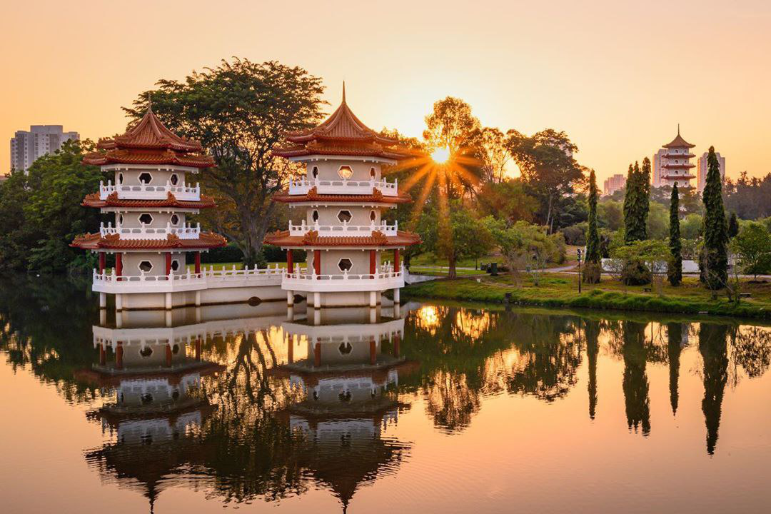 Mid-Autumn events Jurong Lake Garden Sunset