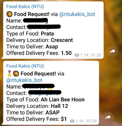 Telegram groups NTU