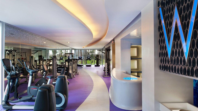 bali luxury hotels - w hotel seminyak gym