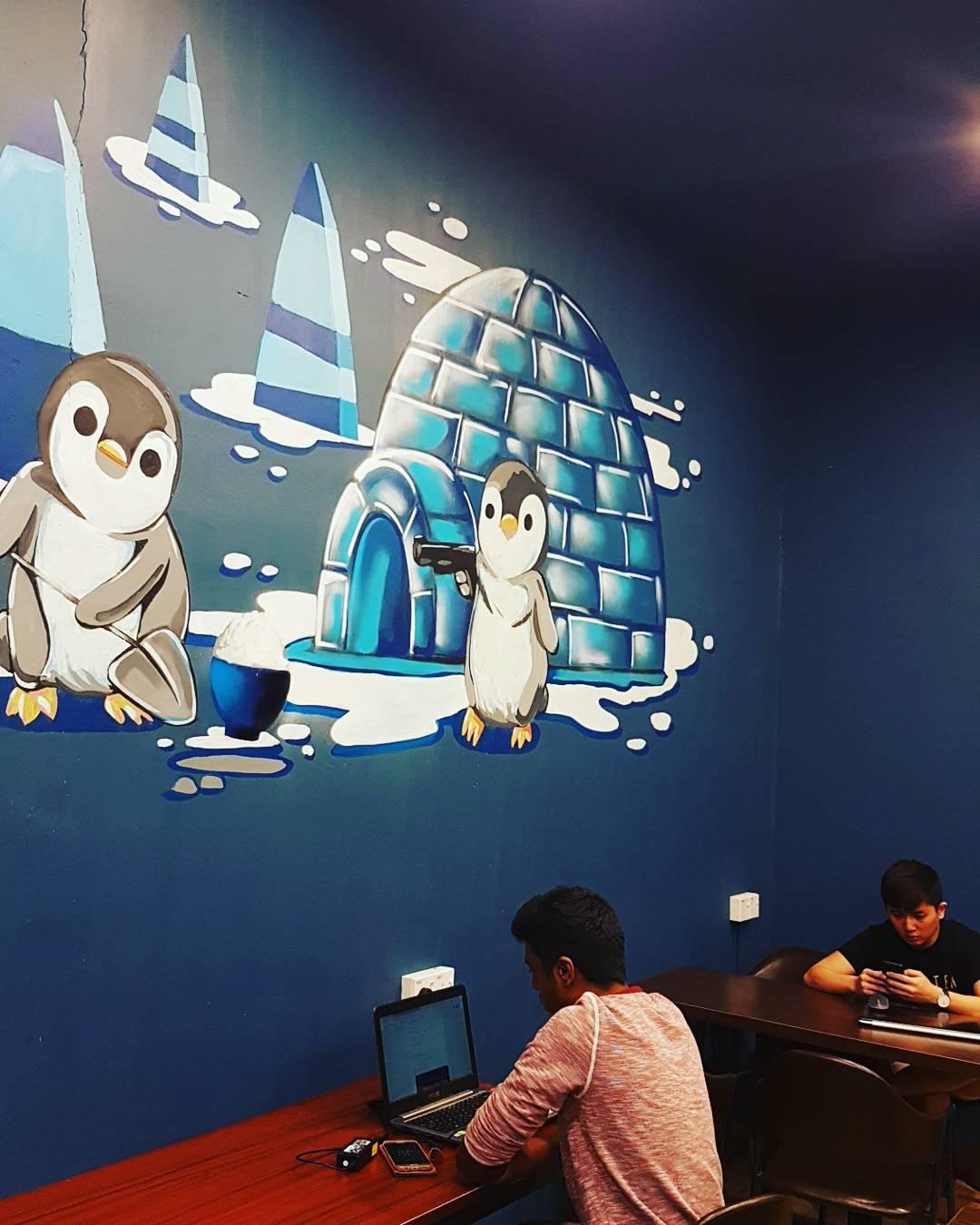 bubble tea cafe in jb - supertea jb mural