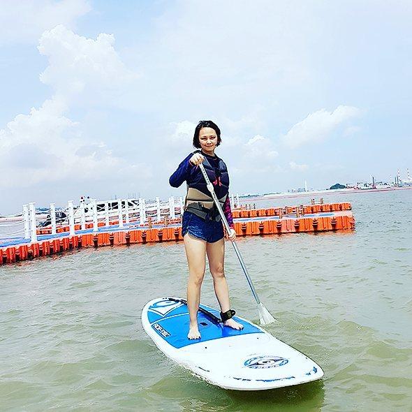 team bonding johor bahru coastal paddle