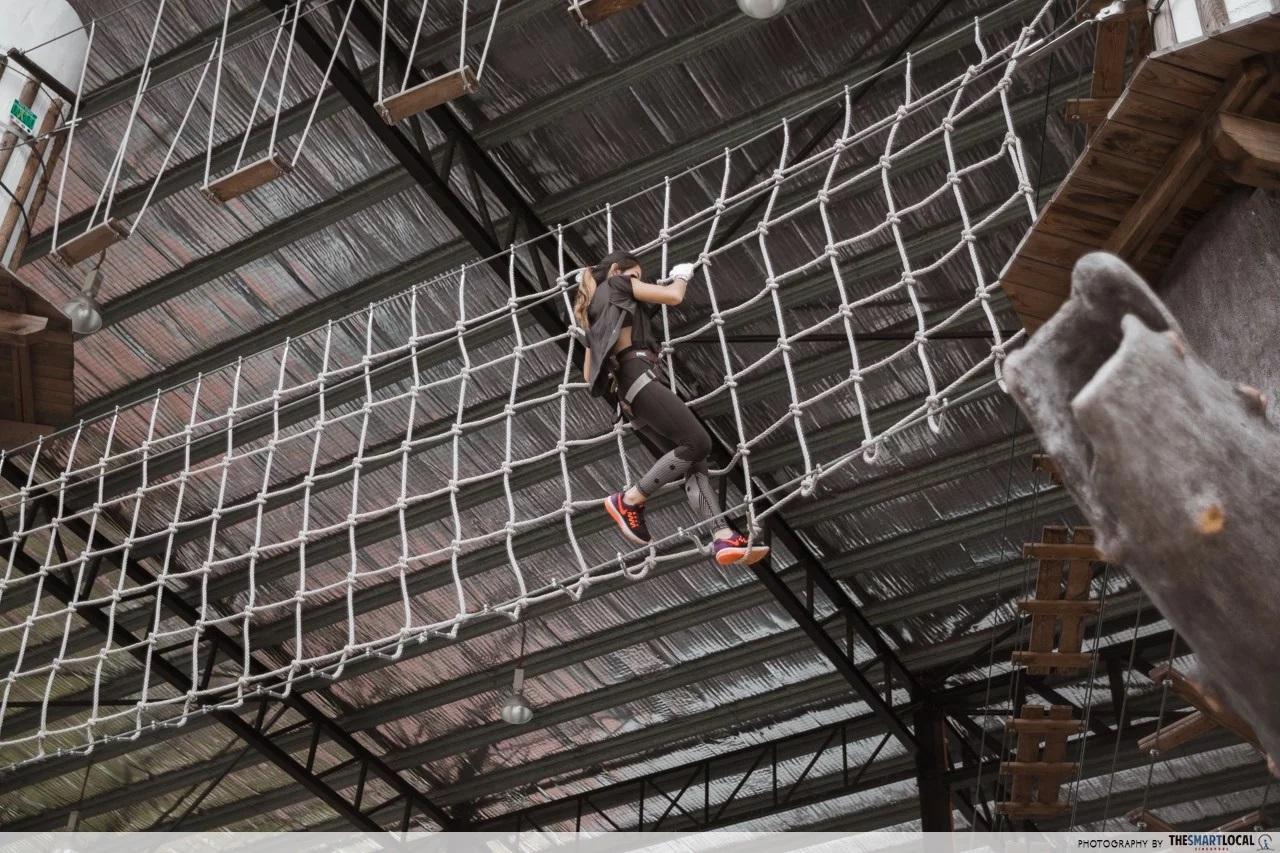 team bonding johor bahru tightrope
