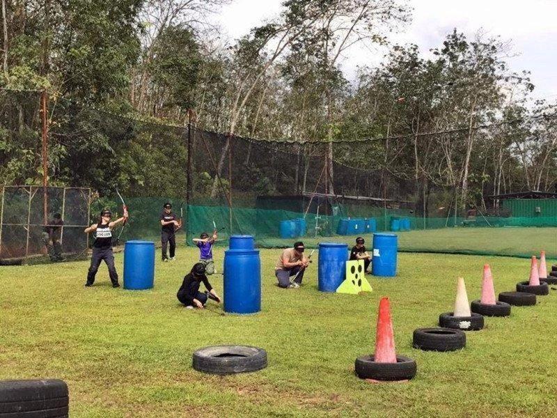 team bonding johor bahru combat archery