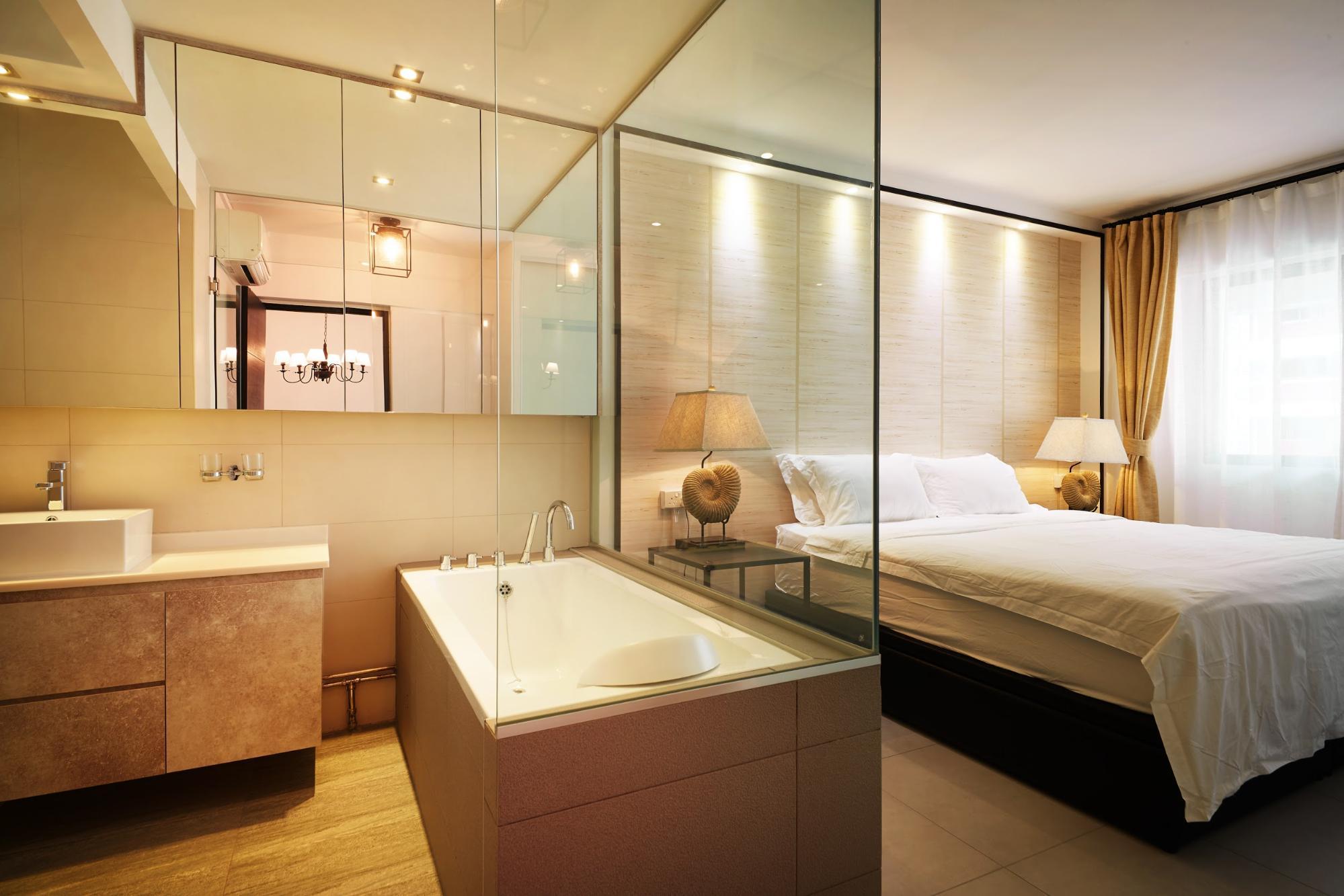 hdb renovation - open concept bathroom