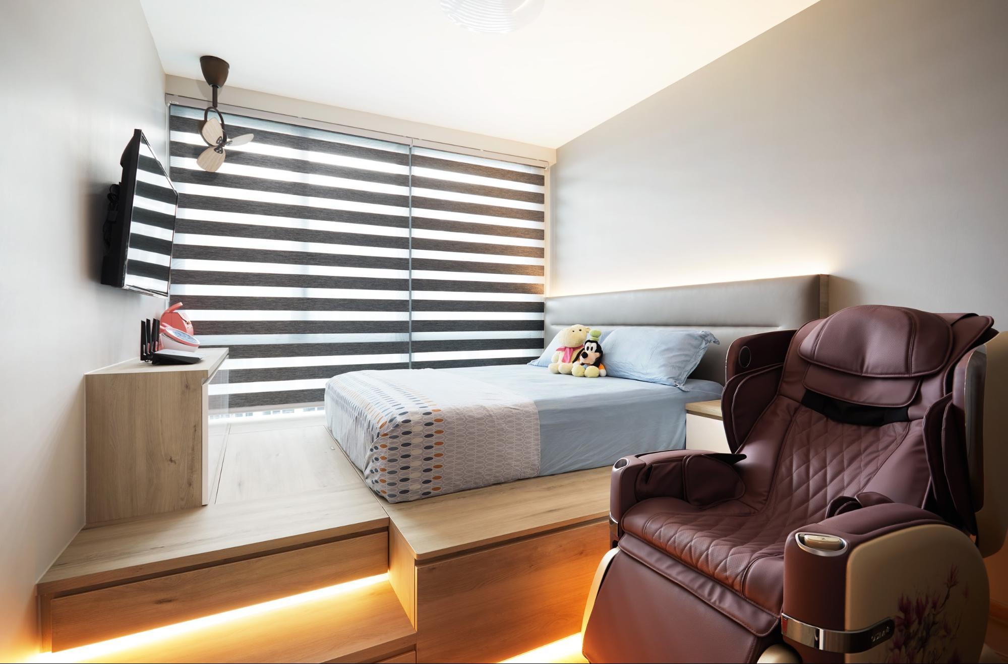 hdb renovation - platform bed