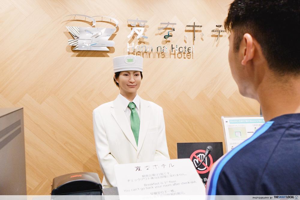 robot hotel front desk