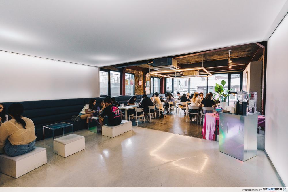 cafe tape interior