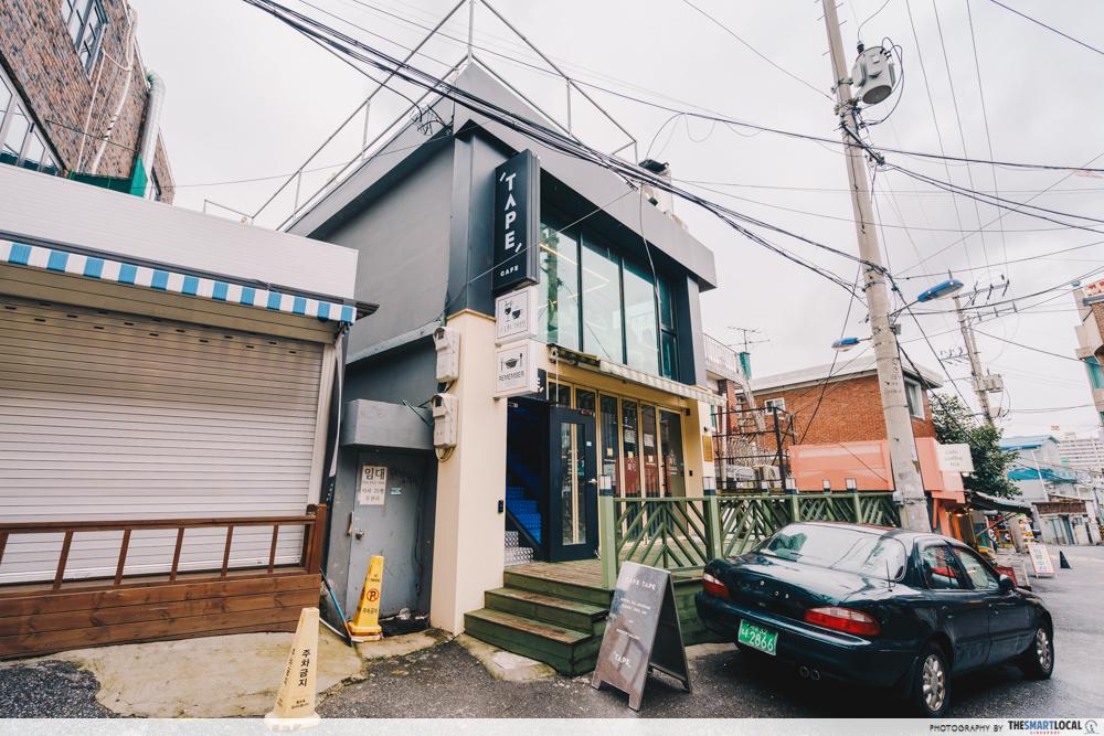 cafe tape entrance