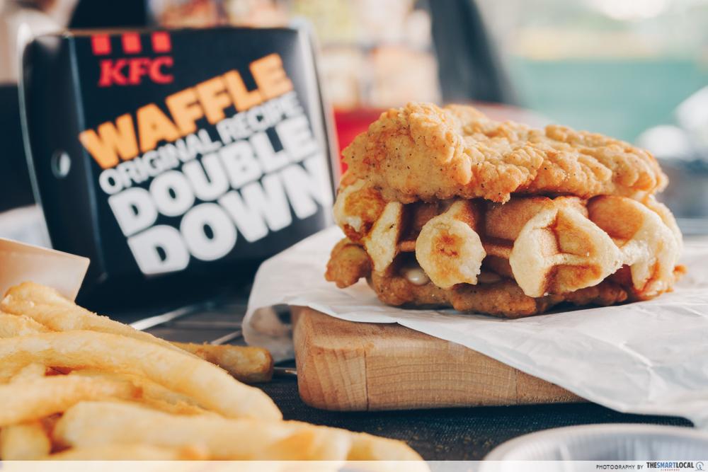 KFC waffle double down - meal