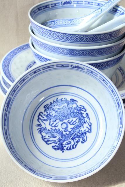 Nostalgic items blue dragon porcelain bowl