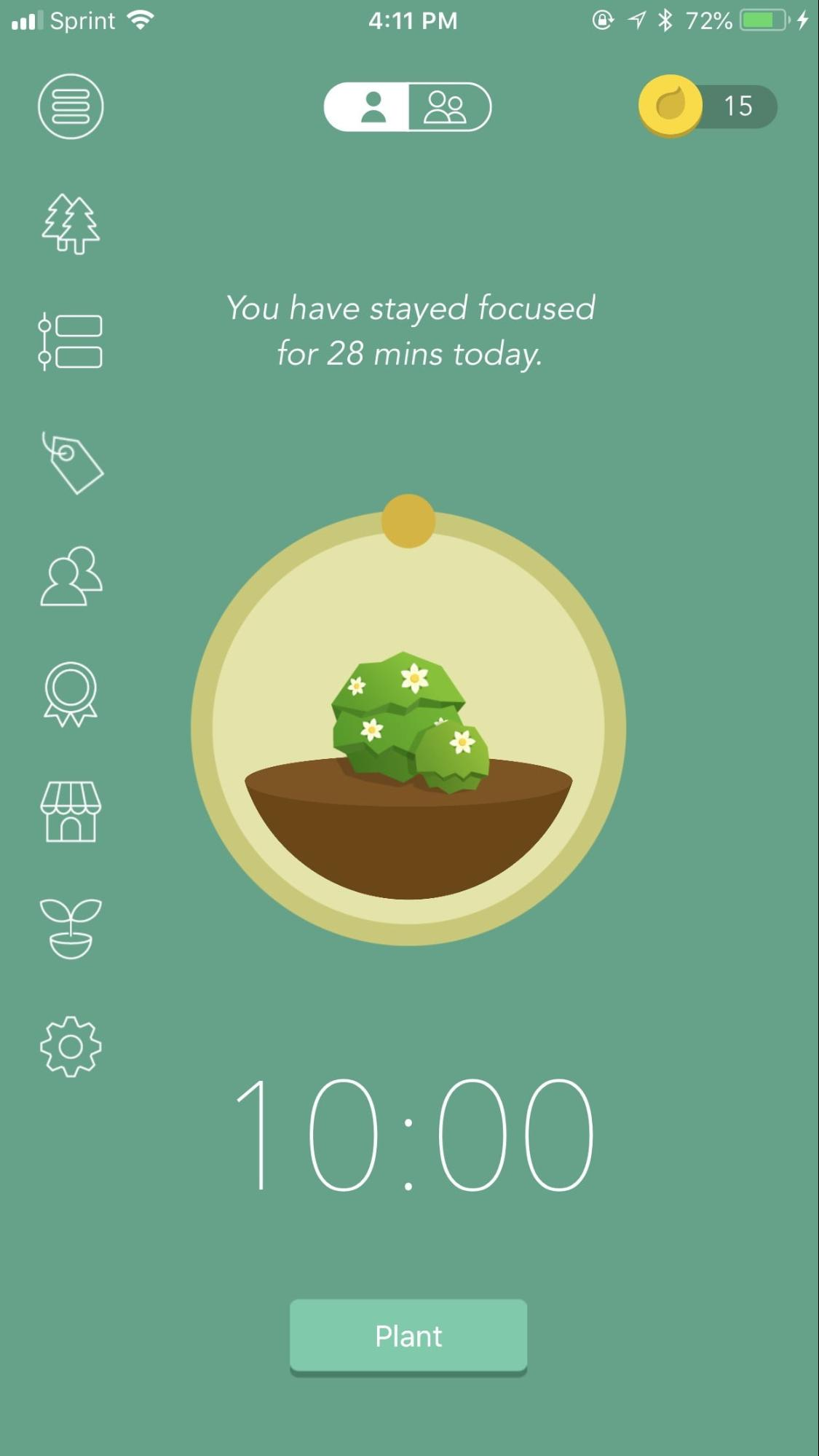 free productivity apps - forest stay focused