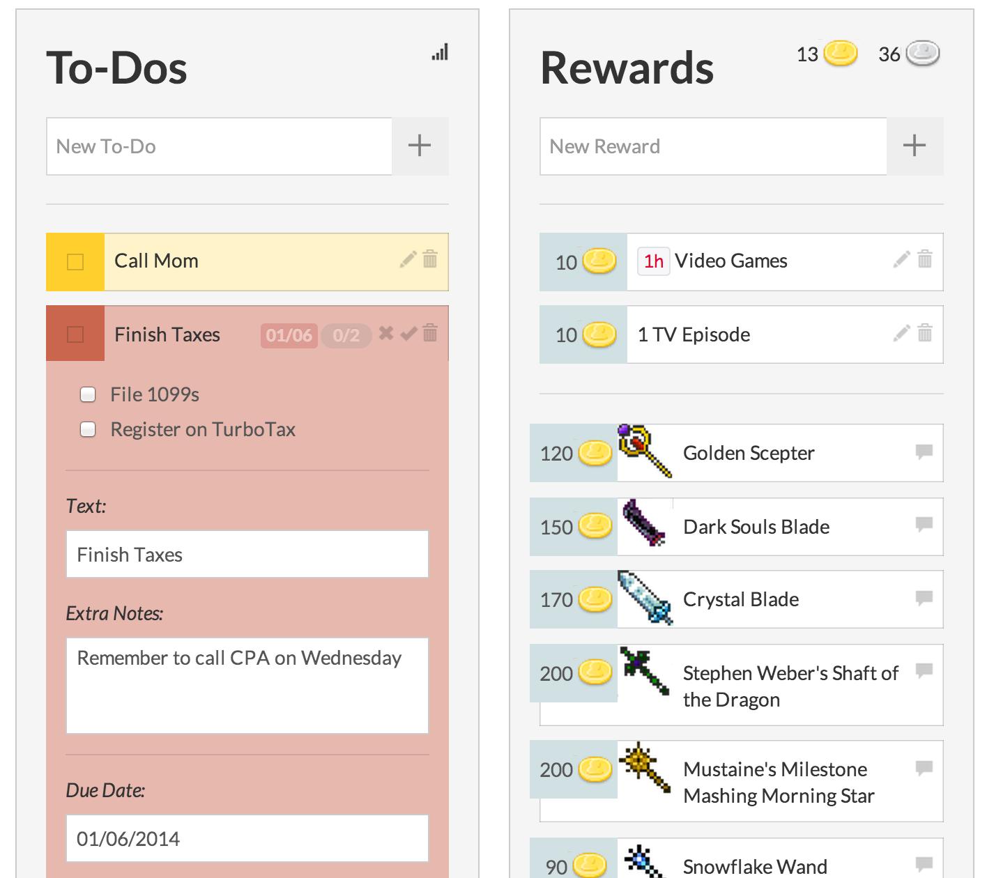 free productivity apps - habitica