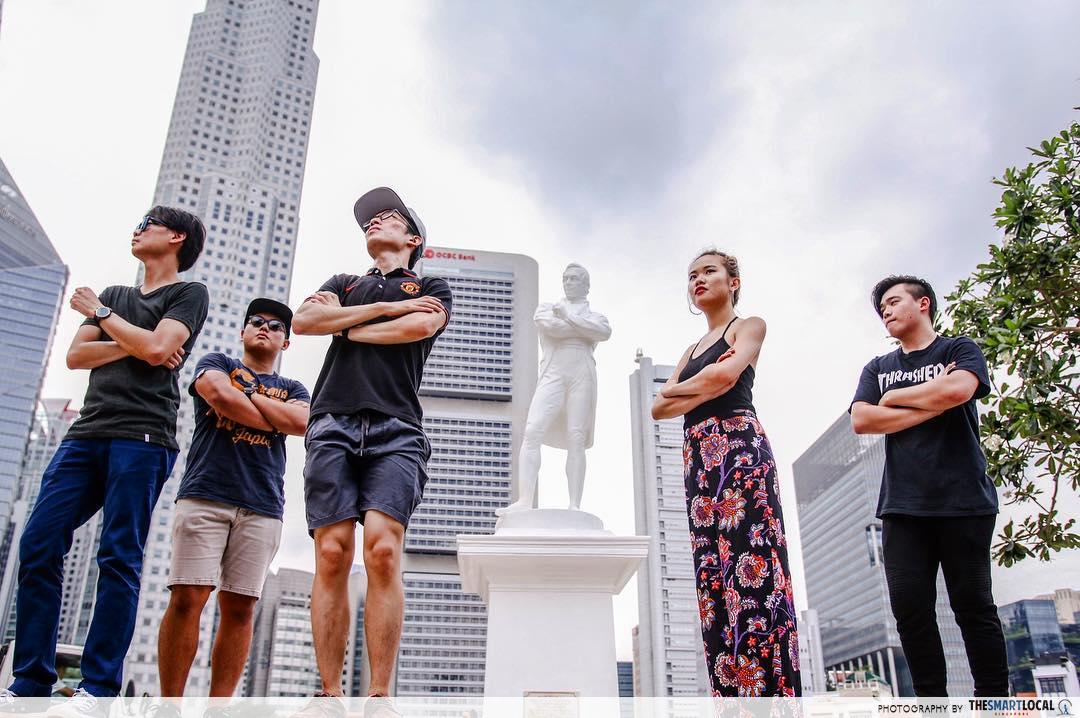 singapore legend - raffles landing site