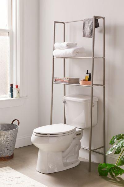 Smart Storage Shelf above toilet bowl