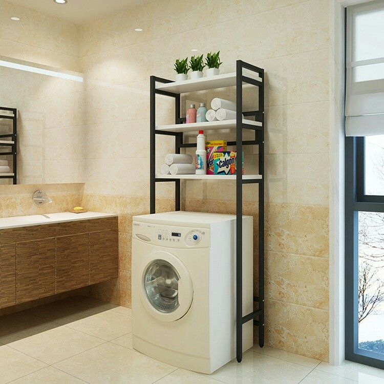 Smart Storage Shelf above washing machine