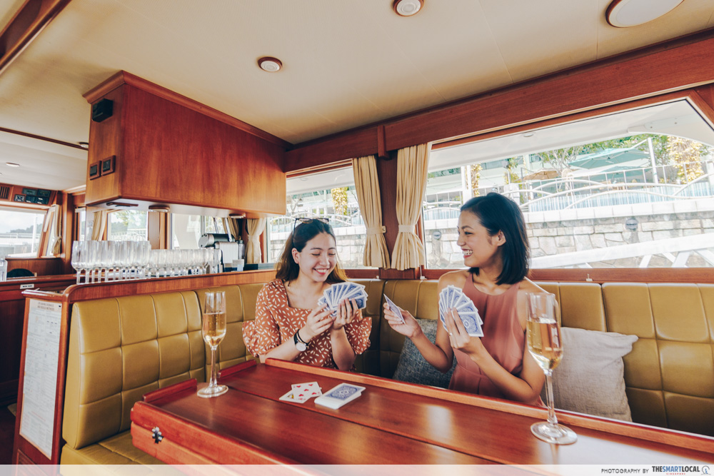 the admiral yacht - indoor saloon