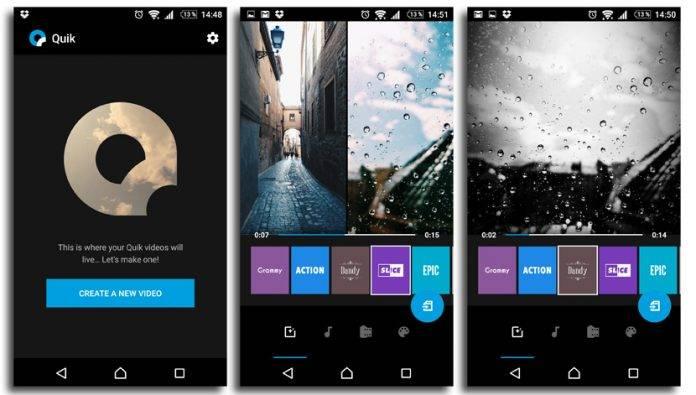 video editing apps - quik