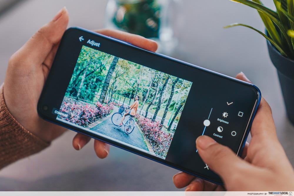 video editing apps - huawei nova 5t image edit