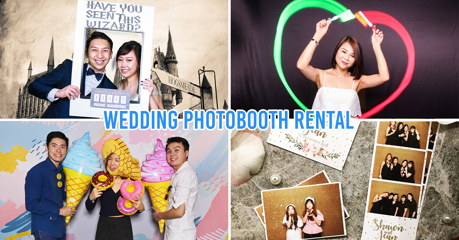 wedding photobooth - collage of cloud booth, instantly,sg, SERSQ, funpics