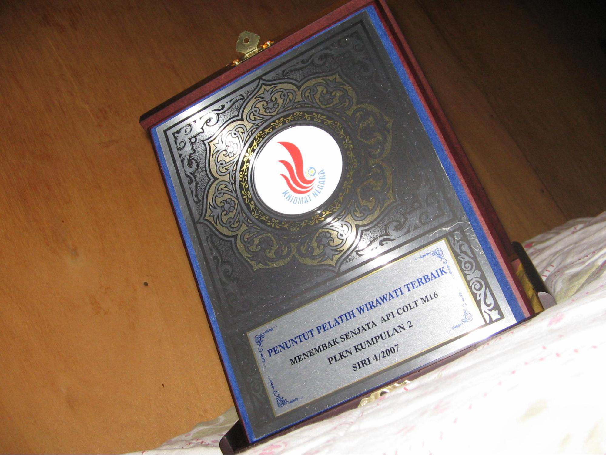 Malaysian NS shooting trophy