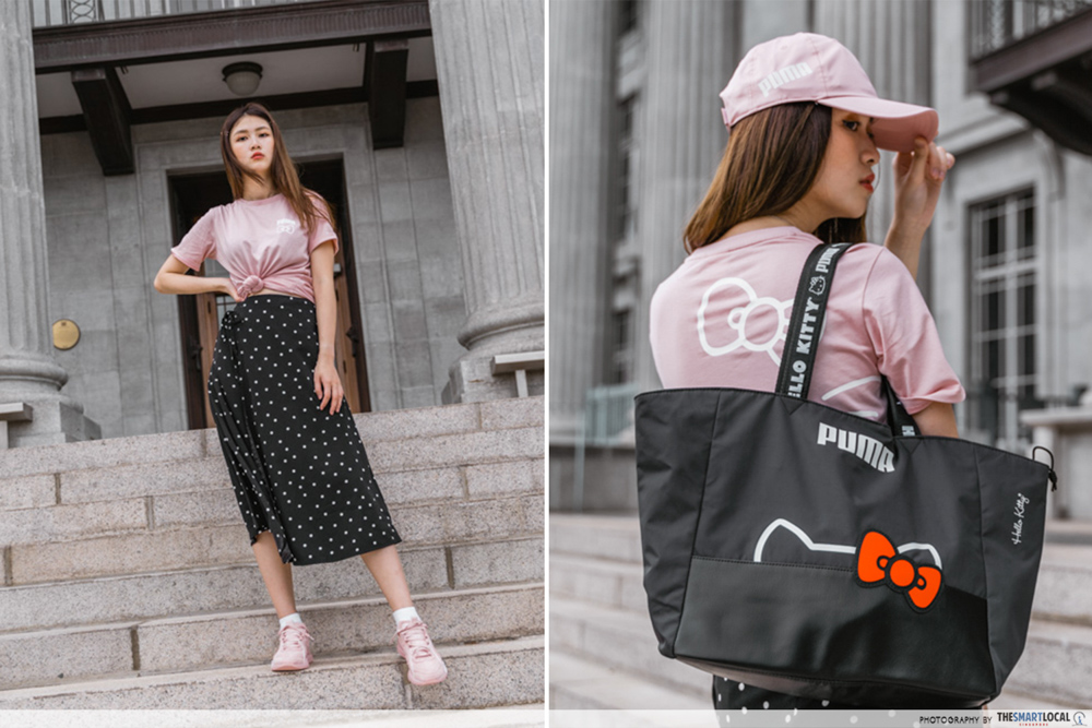 PUMA Hello Kitty Collection Streetwear Singapore Bag Cap
