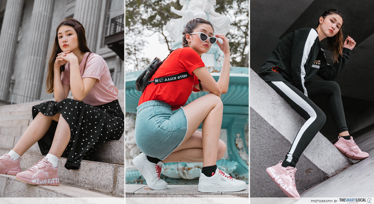 PUMA Hello Kitty Collection Streetwear Singapore Outfits