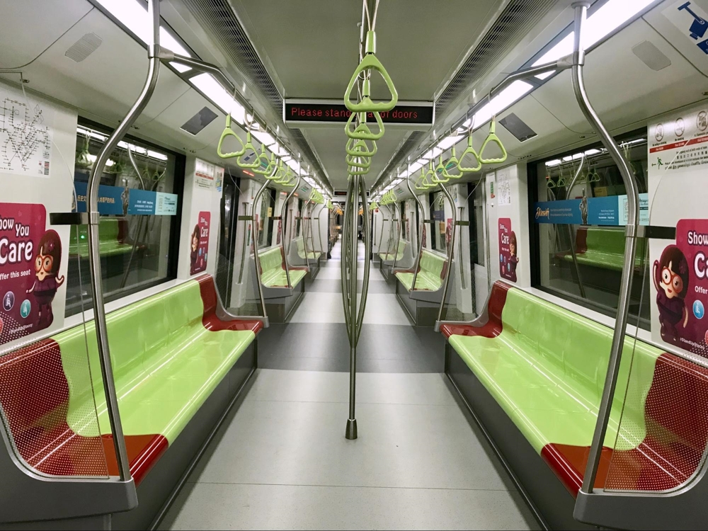 MRT colour-coded seats