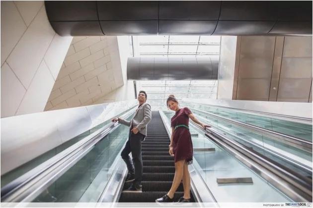 MRT escalators