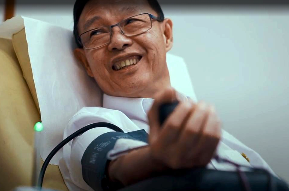 Robert Chew Blood Donor Singapore Heroes