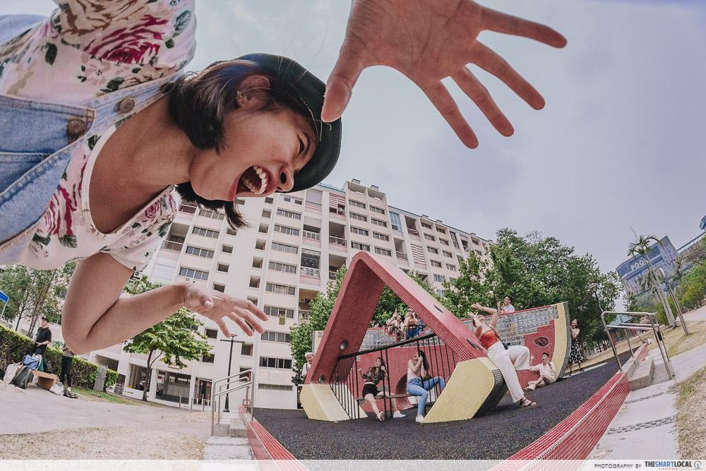 Tampines Instawalk watermelon playground