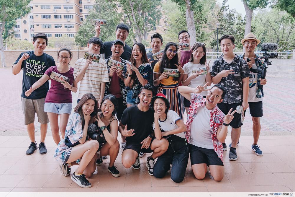Tampines Instawalk winning group