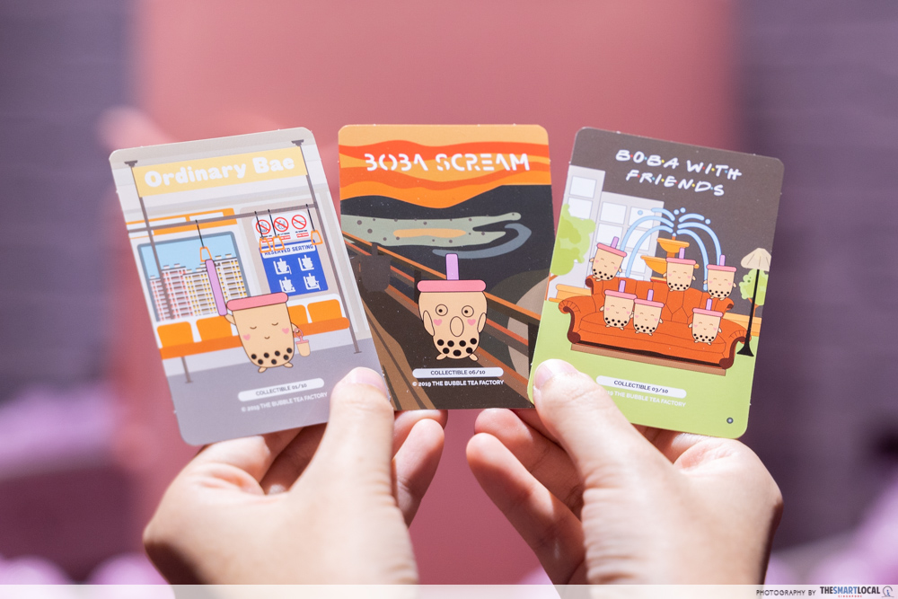 The Bubble Tea Factory Singapore Collectible Cards