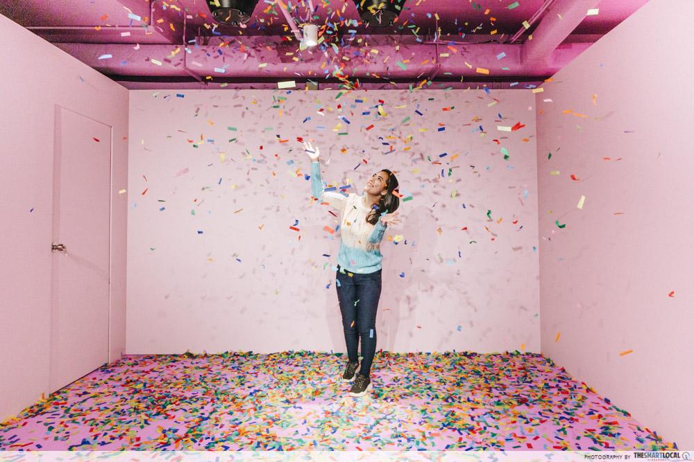 The Bubble Tea Factory Singapore Confetti Room Pearlsonality Chamber