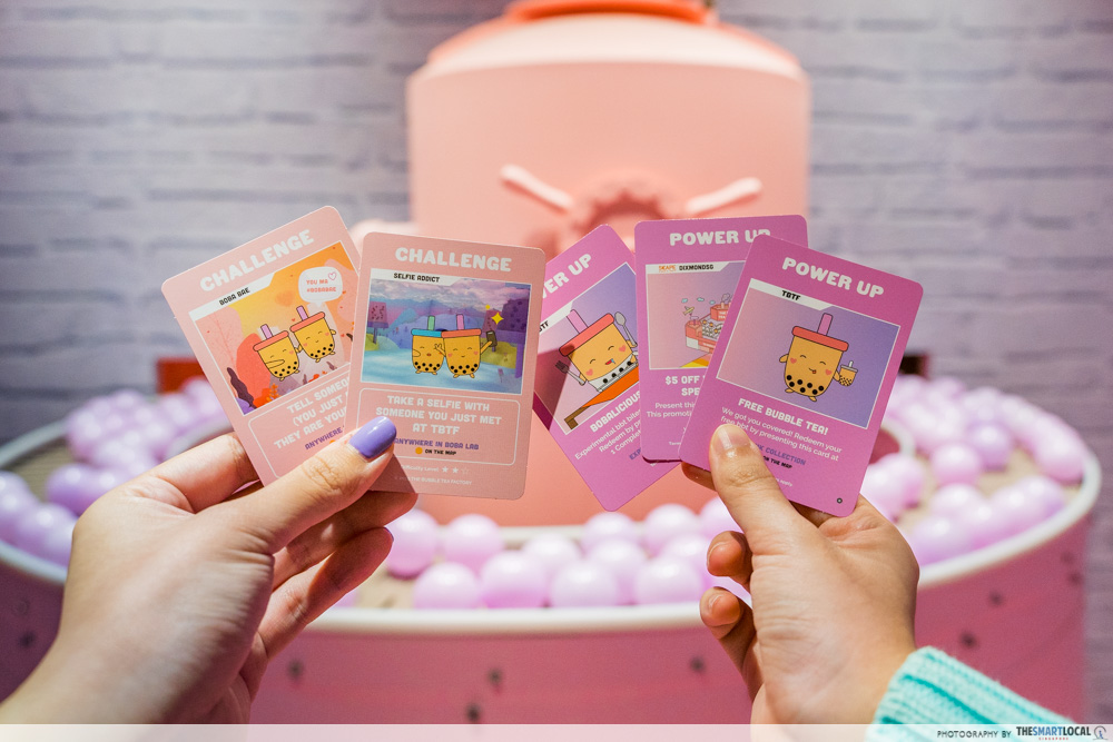 The Bubble Tea Factory Singapore Challenge Cards