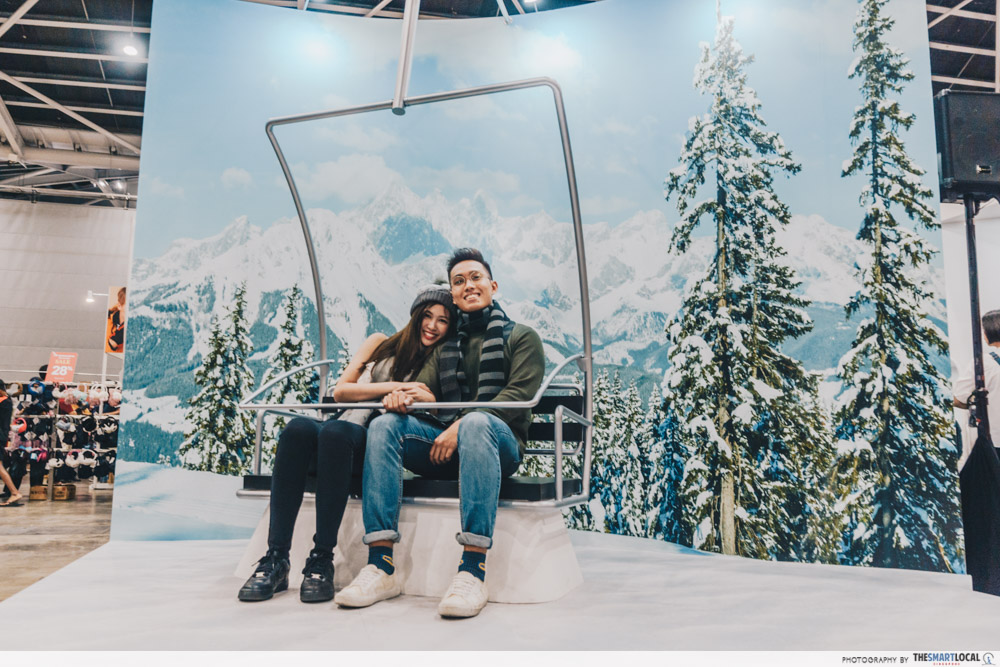 Winter Time Expo Sale 2019 Anniversary Ski Lift Photo Booth