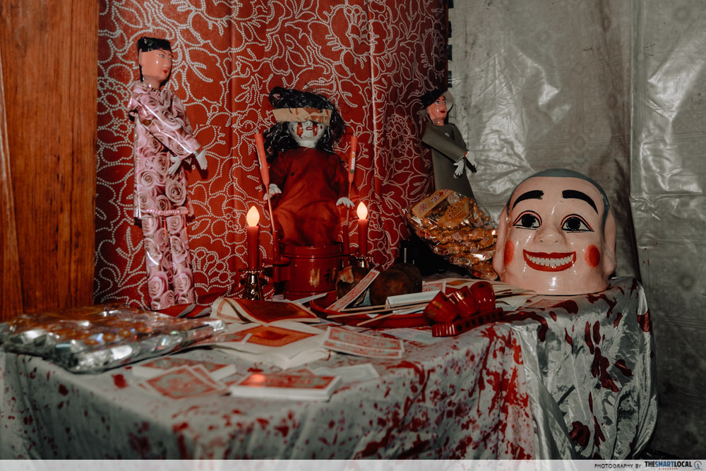 cathay horror haunt - funeral altar