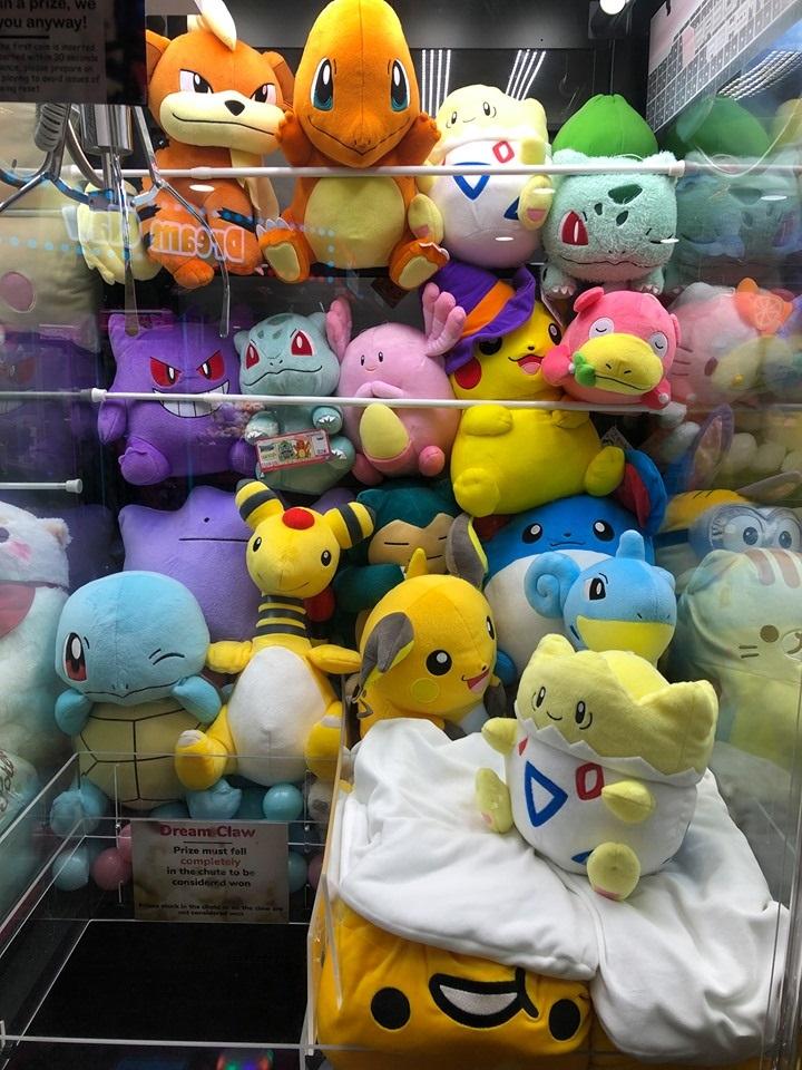 claw machine arcades 2019 pokemon