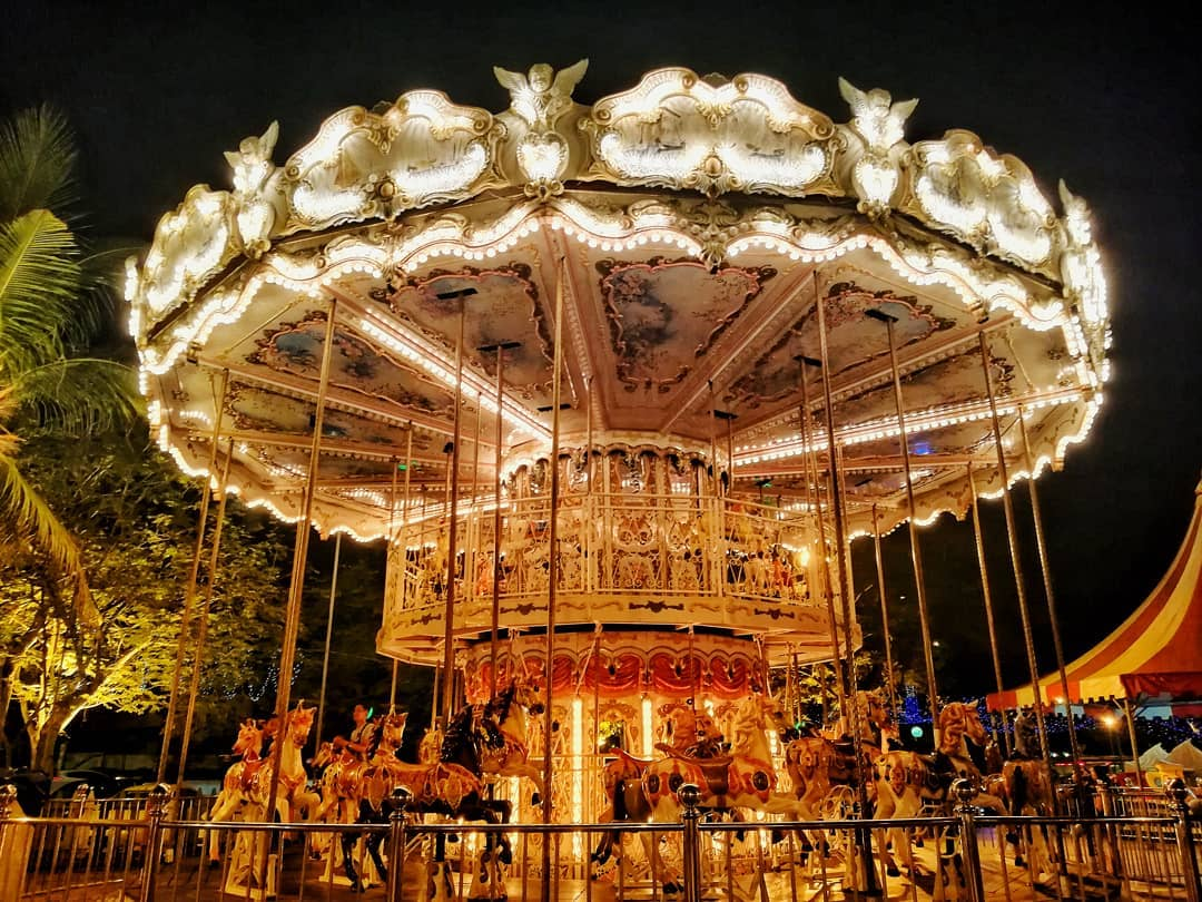 danga bay in jb - carousel at danga bay world theme park