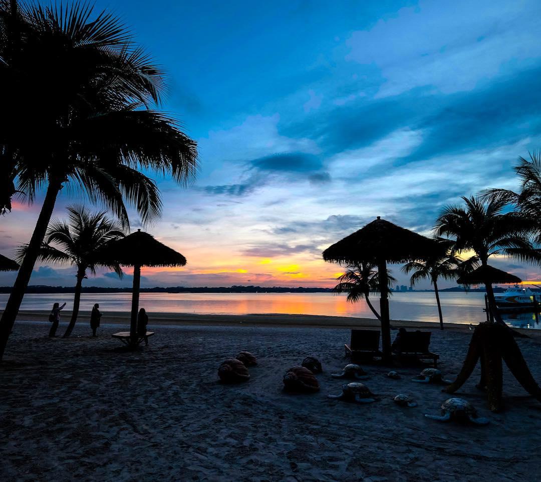 danga bay in jb - sunset at danga beach